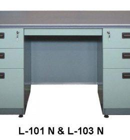 Jual Meja Kantor Besi Berikut Laci type L-101 N