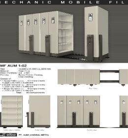 jual Mobile File Alba Mekanik MF 1-02 ( 30 Compartments )