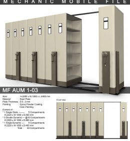 jual Mobile File Alba Mekanik MF AUM 1-03 ( 40 Compartments )