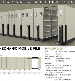 jual Mobile File Alba Mekanik MF AUM 2-06 ( 140 Compartments )