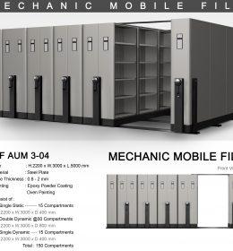 jual Mobile File Alba Mekanik MF AUM 3-04 B ( 150 Compartments )